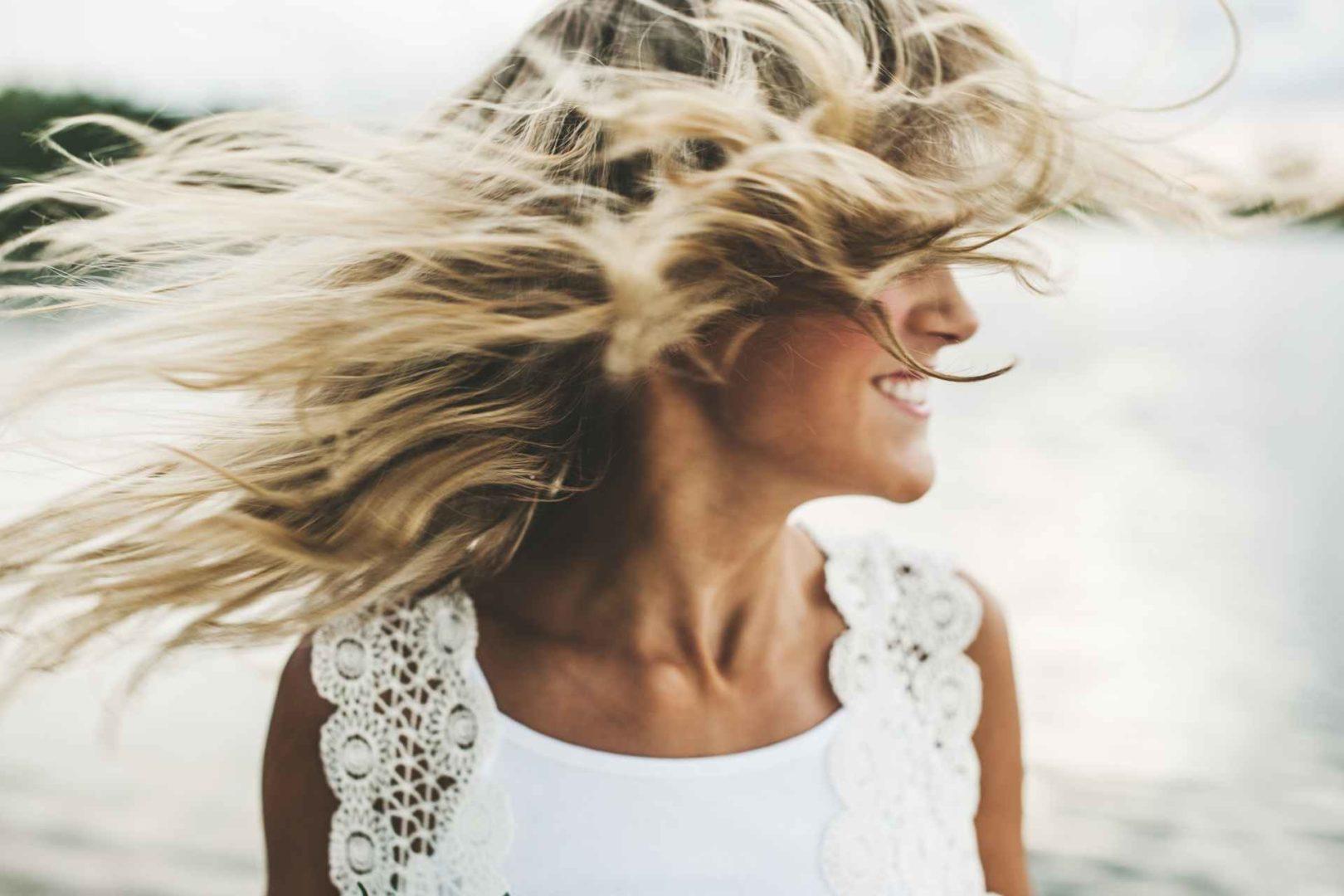 behandle tørt og solskadet hår