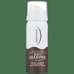 Define Brunettes Dry Shampoo. Reisestørrelse. Foto