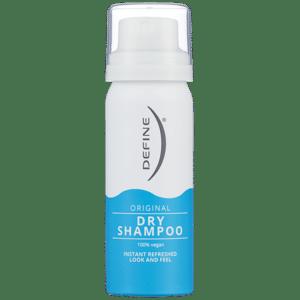 Define Dry Shampoo. Reisestørrelse. Foto