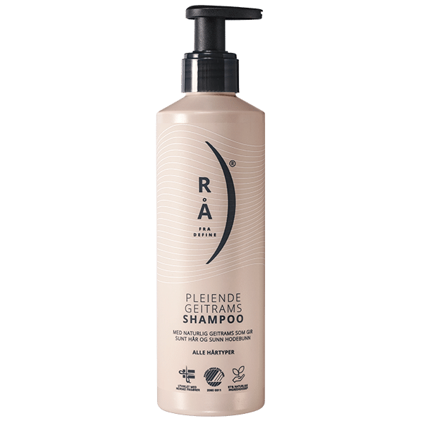 Rå pleiende geitrams shampoo