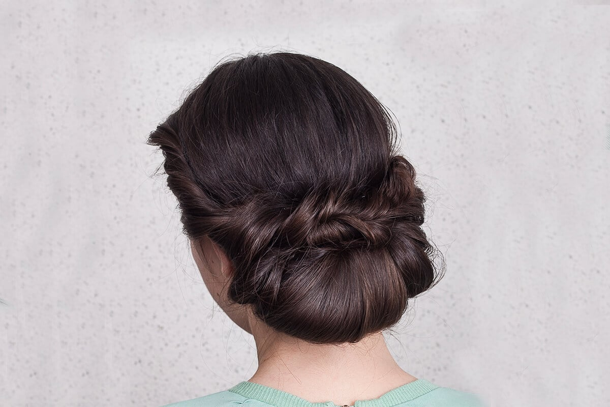 oppsetning for langt hår