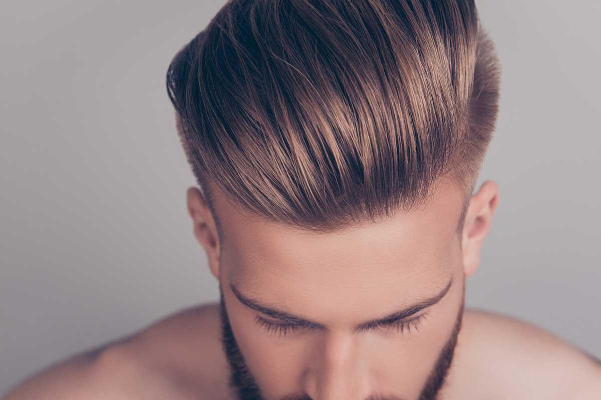 Hårprodukter til menn. Foto.