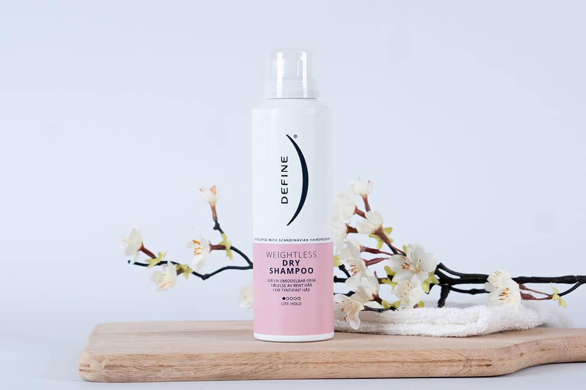 Weightless Dry Shampoo er en nyhet til tynt og fint hår. Foto.