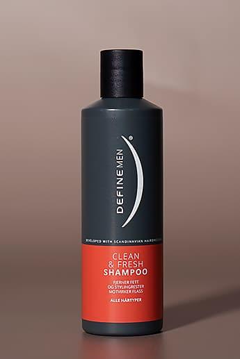 Define Men Clean & Fresh Shampoo. Foto.